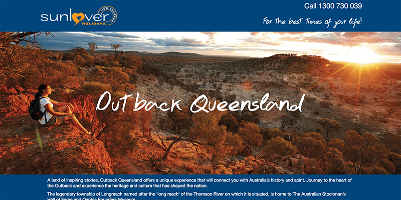 Outback Queensland Microsite Design
